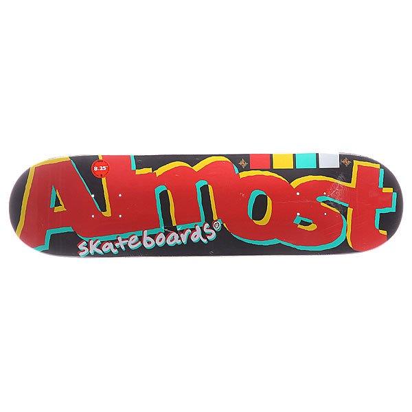 Дека для скейтборда для скейтборда Almost S5 Off Register Black 31.5 x 8.25 (21 см) дека для скейтборда для скейтборда footwork progress shabala forever 32 5 x 8 25 21 см