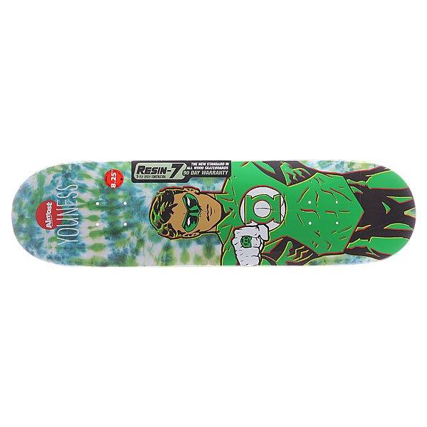 Дека для скейтборда для скейтборда Almost S5 Youness Green Lantern Tiedye R7 Green 31.7 x 8.25 (21 см)Ширина деки: 8.25 (21 см)    Длина деки: 31.7 (80.5 см)    Количество слоев: 7<br><br>Цвет: зеленый<br>Тип: Дека для скейтборда<br>Возраст: Взрослый<br>Пол: Мужской