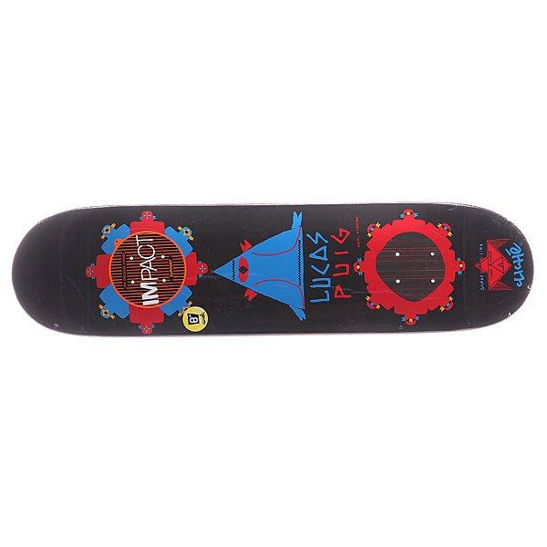 Дека для скейтборда для скейтборда Cliche S5 Puig Gypsy Life Impact Black 31.7 x 8.0 (20.3 см)Ширина деки: 8.0 (20.3 см)    Длина деки: 31.7 (80.5 см)    Количество слоев: 7<br><br>Цвет: черный<br>Тип: Дека для скейтборда<br>Возраст: Взрослый<br>Пол: Мужской