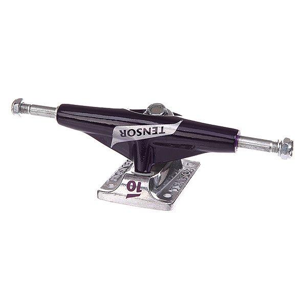 Подвеска для скейтборда 1шт. Tensor Alum Lo Tens Colored Flick Purple/Raw 5 (19.7 см)Ширина подвесок: 5 (19.7 см)    Высота подвесок: 50 мм    Цена указана за 1 шт    Минимальное количество для заказа 2 шт<br><br>Цвет: серый,фиолетовый<br>Тип: Подвеска для скейтборда