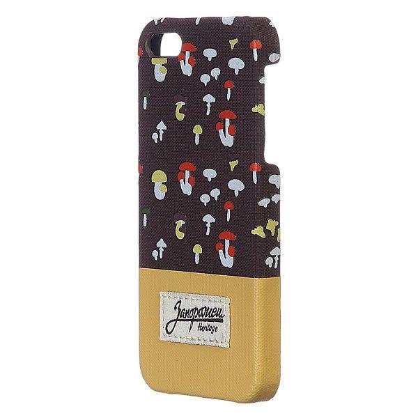 Чехол для iPhone Запорожец Грибочки Iphone 5/5s Brown/Sand iphone 5 ростест с гарантией купить