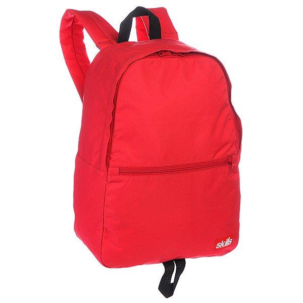 Рюкзак городской Skills Small Backpack RedХарактеристики: Внутренняя подкладка из тафты.  Вместительное отделение на молнии.  Дополнительный лицевой карман для мелочей.  Небольшая ручка сверху рюкзака для ношения в руке. Широкие мягкие регулируемые лямки для удобства ношения.<br><br>Цвет: красный<br>Тип: Рюкзак городской<br>Возраст: Взрослый