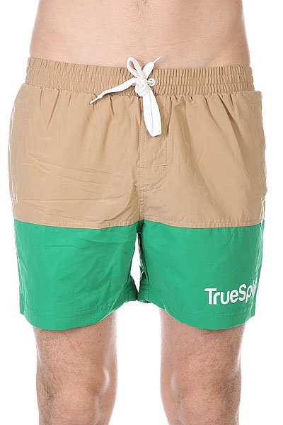 Шорты пляжные TrueSpin Swimming Shorts Splash Two Beige/Green