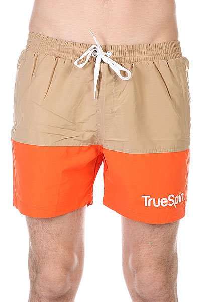 Шорты пляжные TrueSpin Swimming Shorts Splash Two Beige/Orange