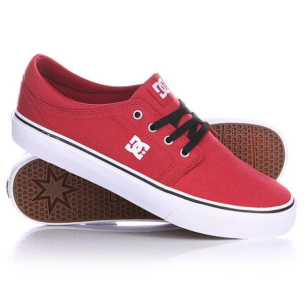 Кеды кроссовки DC Trase Tx Shoe Dark Red dc men s council mid tx skate shoe