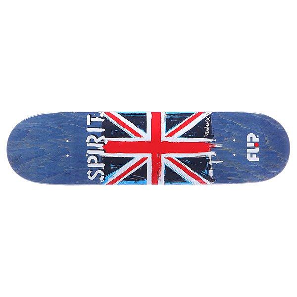 Дека для скейтборда для скейтборда Flip S5 Rowley Spirit 32.31 x 8.25 (21 см)Ширина деки: 32.31 (82.1 см)    Длина деки: 8.25 (21 см)    Количество слоев: 7<br><br>Цвет: красный,голубой,синий<br>Тип: Дека для скейтборда