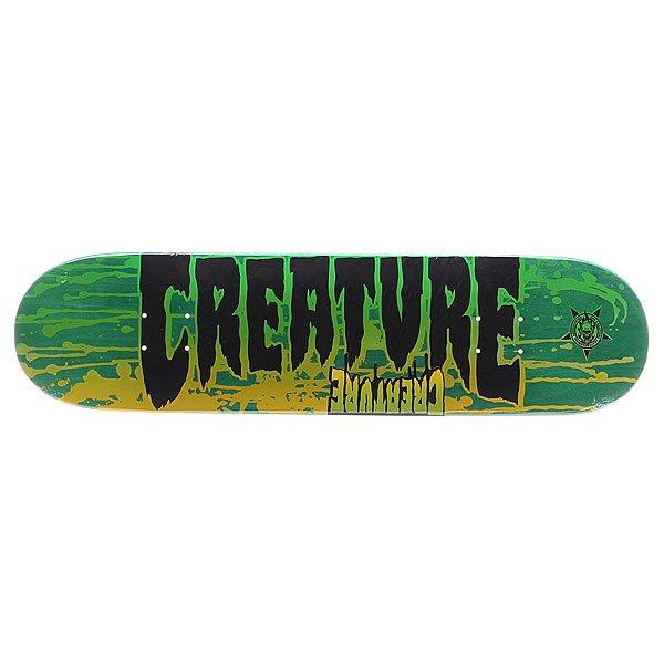 Дека для скейтборда для скейтборда Creature S5 Reverse Sm Stain 31.6 x 8.0 (20.3 см)Ширина деки: 8.0 (20.3 см)    Длина деки: 31.6 (80.3 см)    Количество слоев: 7<br><br>Цвет: мультиколор<br>Тип: Дека для скейтборда