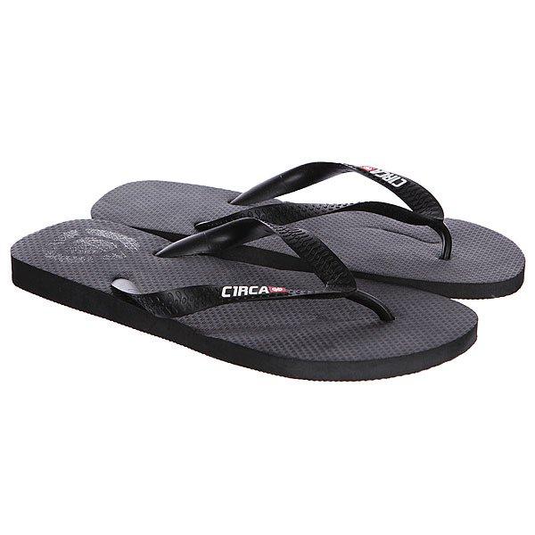 Шлепанцы Circa Logo Sandal Black<br><br>Цвет: черный<br>Тип: Вьетнамки<br>Возраст: Взрослый<br>Пол: Мужской