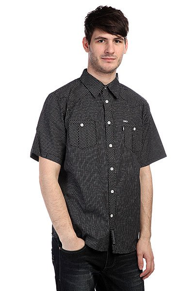 Рубашка в клетку Circa Turk Woven Black White Check
