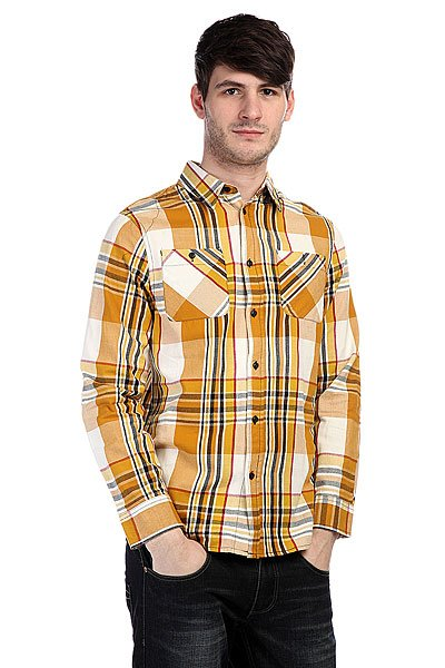 Рубашка в клетку Altamont Tungsten Ls Woven Copper<br><br>Цвет: желтый<br>Тип: Рубашка в клетку<br>Возраст: Взрослый<br>Пол: Мужской