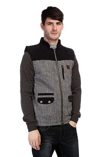 Жилет Circa Yosemite Vest Jacket Black Tweed<br><br>Цвет: черный,серый<br>Тип: Жилетка<br>Возраст: Взрослый<br>Пол: Мужской