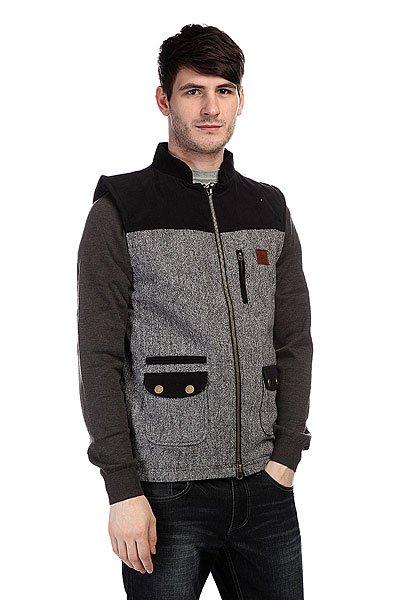 ����� Circa Yosemite Vest Jacket Black Tweed