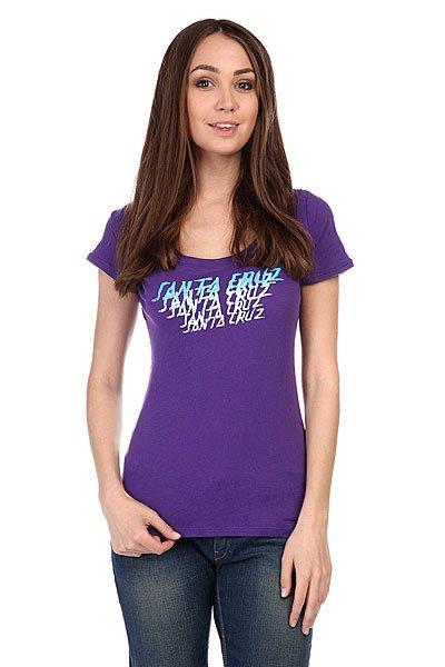Майка женская Santa Cruz Sunset Strip Scoop Neck Purple Rush штаны широкие santa cruz classic strip sweat pant navy