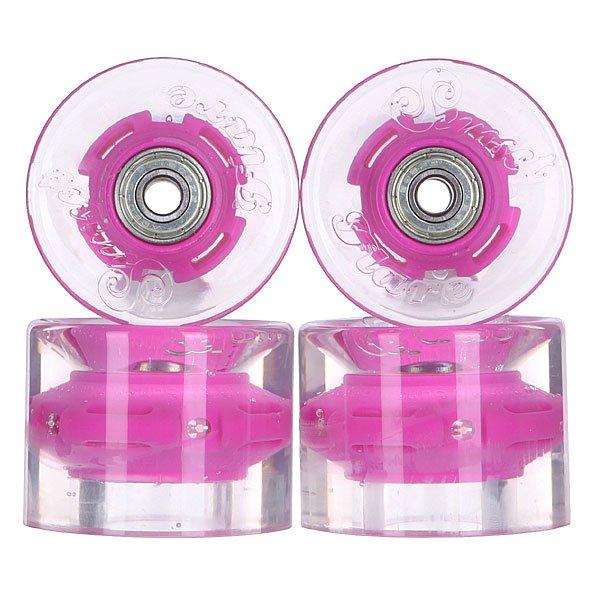 Колеса для скейтборда для лонгборда с подшипниками Sunset Cruiser Wheel With Abec9 Purple 78A 59 mmДиаметр: 59 mm    Жесткость: 78A    Цена указана за комплект из 4-х колес    В комплект входят восемь подшипников Abec-9, восемь шайбочек на оси и четыре втулки.<br><br>Цвет: прозрачный,фиолетовый<br>Тип: Колеса для лонгборда