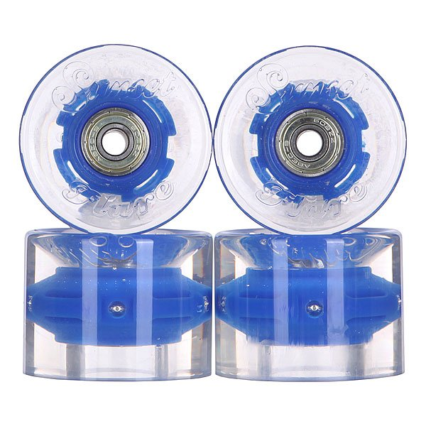 Колеса для скейтборда для лонгборда с подшипниками Sunset Cruiser Wheel With Abec9 Blue 78A 59 mm колеса для скейтборда для лонгборда eastcoast shelby white 78a 65 mm