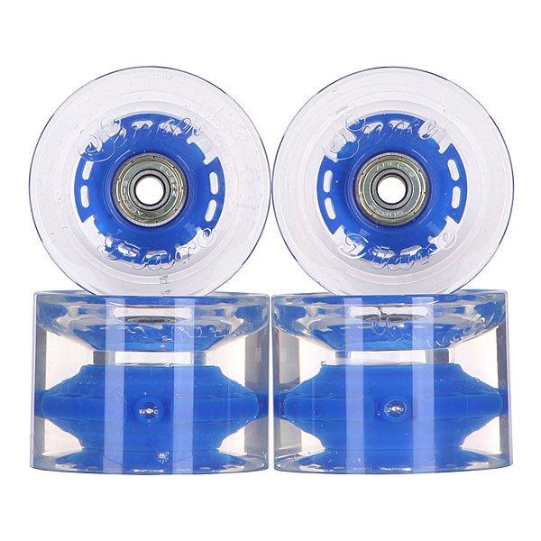 Колеса для скейтборда для лонгборда с подшипниками Sunset Long Board Wheel With Abec9 Blue 78A 69 mmДиаметр: 69 mm    Жесткость: 78A    Цена указана за комплект из 4-х колес    В комплект входят восемь подшипников Abec-9, восемь шайбочек на оси и четыре втулки.<br><br>Цвет: прозрачный,синий<br>Тип: Колеса для лонгборда