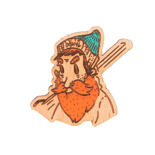 Значок Запорожец Х Waf-Waf Мужик-охотник<br><br>Цвет: коричневый<br>Тип: Значок