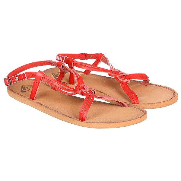 Шлепанцы женские Roxy Solaris Eu J Red<br><br>Цвет: коричневый,красный<br>Тип: Дианеты<br>Возраст: Взрослый<br>Пол: Женский