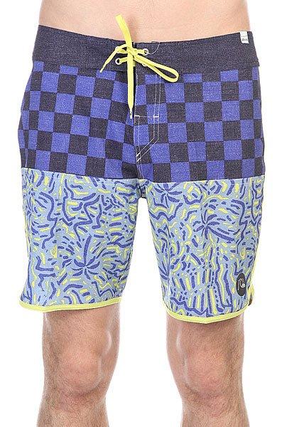 Шорты пляжные Quiksilver Quad Rock Scallop Navy Blazer<br><br>Цвет: синий,голубой,черный<br>Тип: Шорты пляжные<br>Возраст: Взрослый<br>Пол: Мужской