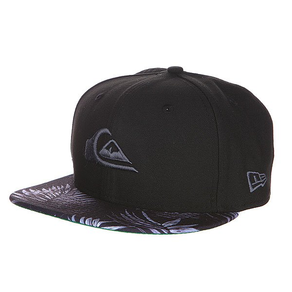 Бейсболка New Era Quiksilver Scallop NewEra Black/Grey