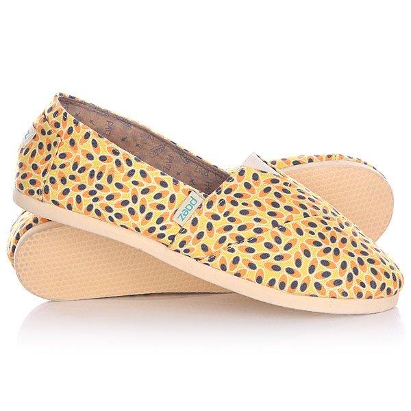Эспадрильи женские Paez Fruits Fitted MaracuyaУдобная и легкая обувь на лето от аргентинского производителя - Paez. Стильные и качественные эспадрильи, с ортопедической стелькой, будут уместны при любой обстановке и станут отличным дополнением к Вашему гардеробу. Такая обувь отлично подойдет и для городских прогулок и для похода на пляж. Эспадрильи очень быстро сохнут и устойчивы к загрязнениям, что делает их универсальной обувью для всех!Характеристики:Состав: 100% хлопчатобумажная ткань.Подошва: 100% эвапласт (неопрен). Стелька: 100%кожа, имеет ортопедический упор под свод стопы. Быстро высыхают от влаги. Устойчивы к загрязнениям. Удобно снимаются и одеваются: верх с вшитой резинкой. Прочная отделка и качественные материалы. Удобная ортопедическая стелька из кожи с супинатором для поддержания свода стопы. Перфорациякожаной стельки обеспечивает дополнительную вентиляцию для Ваших ног. Двойная строчка с использованием прочной капроновой нити.<br><br>Цвет: желтый,оранжевый,черный<br>Тип: Эспадрильи<br>Возраст: Взрослый<br>Пол: Женский