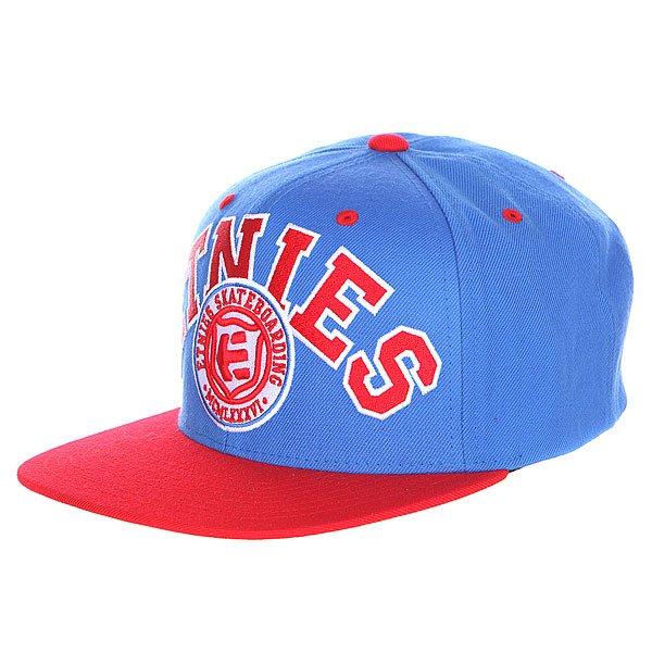 Бейсболка Etnies Yardage Snapback Hat Royal<br><br>Цвет: синий,красный<br>Тип: Бейсболка с прямым козырьком<br>Возраст: Взрослый