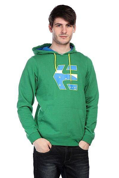 Купить Толстовки   Кенгуру Etnies Icon Fill P/O Fleece Green