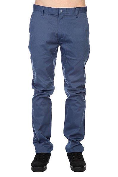 Штаны прямые Etnies Classic Slim Chino Pant Blue штаны прямые enjoi boo khaki slim chino true black