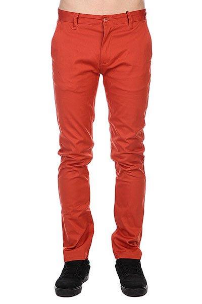 Штаны узкие Etnies Classic Slim Chino Pant Coral штаны прямые billabong new order chino khaki