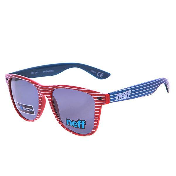 Очки Neff Daily Shades PrideКонтрастные, стильные и просто неповторимые очки на каждый день. Все для Вашего стиля!Технические характеристики: Материал оправы - пластик.Акриловые линзы.100% защита от ультрафиолетовых лучей.<br><br>Цвет: красный,синий<br>Тип: Очки<br>Возраст: Взрослый<br>Пол: Мужской