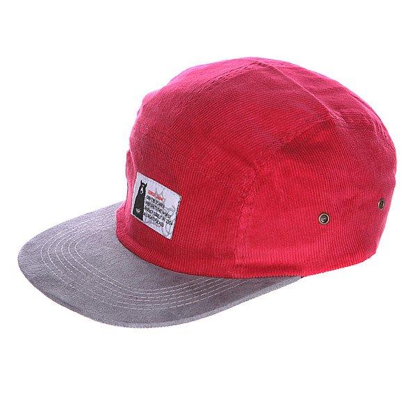 Бейсболка пятипанелька Terror Snow Red<br><br>Цвет: бордовый,серый<br>Тип: Бейсболка пятипанелька<br>Возраст: Взрослый