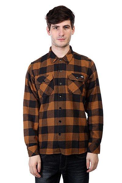 Рубашка в клетку Dickies Sacramento Brown<br><br>Цвет: коричневый,синий<br>Тип: Рубашка в клетку<br>Возраст: Взрослый<br>Пол: Мужской