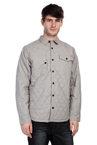 Куртка Burton Mb Vibe Jkt Dark AshКлассическая утепленная куртка рубашечного кроя для защиты от холода и ветра.Характеристики:Внутренняя подкладка из хлопка.Классический воротник.Манжеты на пуговицах. Застежка-пуговицы. Два накладных кармана на груди.<br><br>Цвет: серый<br>Тип: Куртка<br>Возраст: Взрослый<br>Пол: Мужской