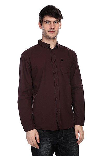 Рубашка Globe Goodstock Oxford Shirt Plum<br><br>Цвет: бордовый<br>Тип: Рубашка<br>Возраст: Взрослый<br>Пол: Мужской