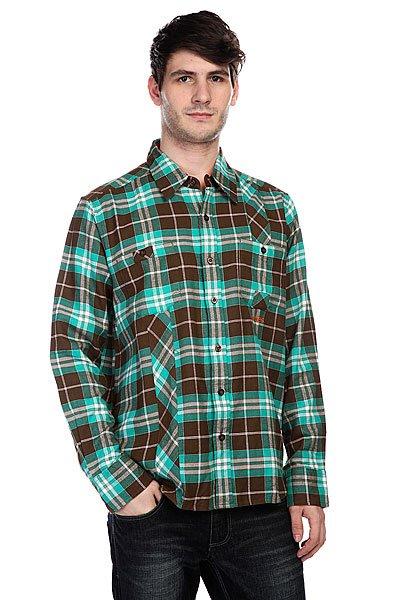 Рубашка в клетку Innes Mersey Brown<br><br>Цвет: зеленый,коричневый<br>Тип: Рубашка в клетку<br>Возраст: Взрослый<br>Пол: Мужской