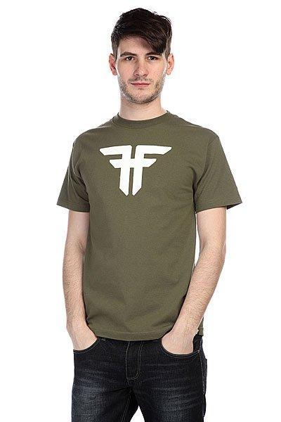 Футболка Fallen Trademark Army/White<br><br>Цвет: зеленый<br>Тип: Футболка<br>Возраст: Взрослый<br>Пол: Мужской