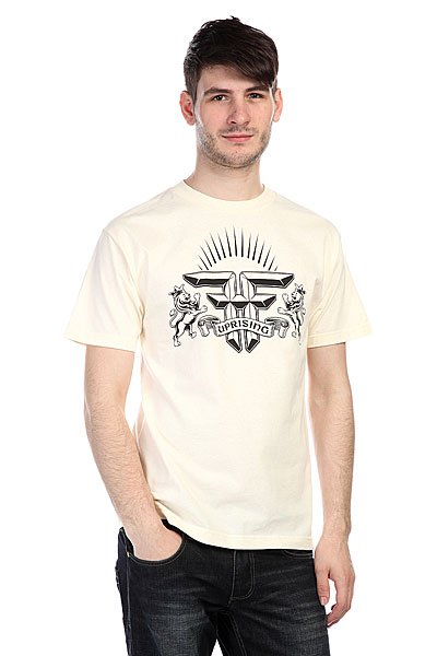 Футболка Fallen Uprising Shirt Natural/Black<br><br>Цвет: бежевый<br>Тип: Футболка<br>Возраст: Взрослый<br>Пол: Мужской
