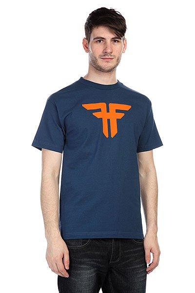 Футболка Fallen Trademark Harbor Blue/Orange<br><br>Цвет: синий<br>Тип: Футболка<br>Возраст: Взрослый<br>Пол: Мужской