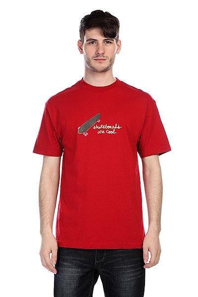 Футболка Krux Cool Deep Red<br><br>Цвет: красный<br>Тип: Футболка<br>Возраст: Взрослый<br>Пол: Мужской