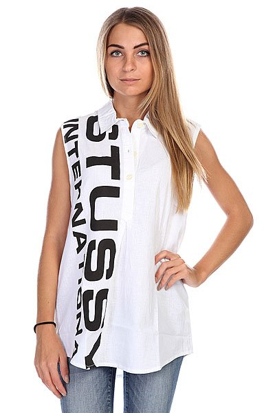 Поло женское Stussy Туника Shout Out Tunic White