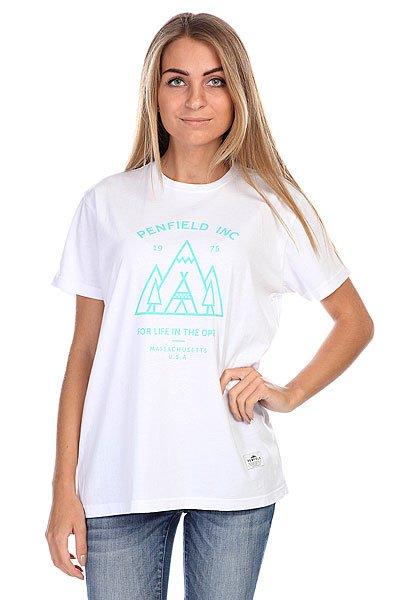Футболка женская Penfield Teepee T-Shirt White<br><br>Цвет: белый<br>Тип: Футболка<br>Возраст: Взрослый<br>Пол: Женский