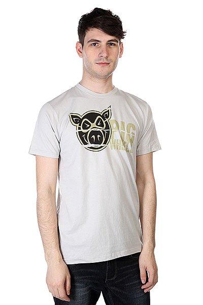 Футболка Pig Torn Shirt Tan<br><br>Цвет: серый<br>Тип: Футболка<br>Возраст: Взрослый<br>Пол: Мужской