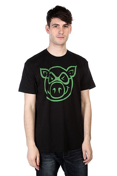 Футболка Pig Basic Slimfit Black<br><br>Цвет: черный<br>Тип: Футболка<br>Возраст: Взрослый<br>Пол: Мужской