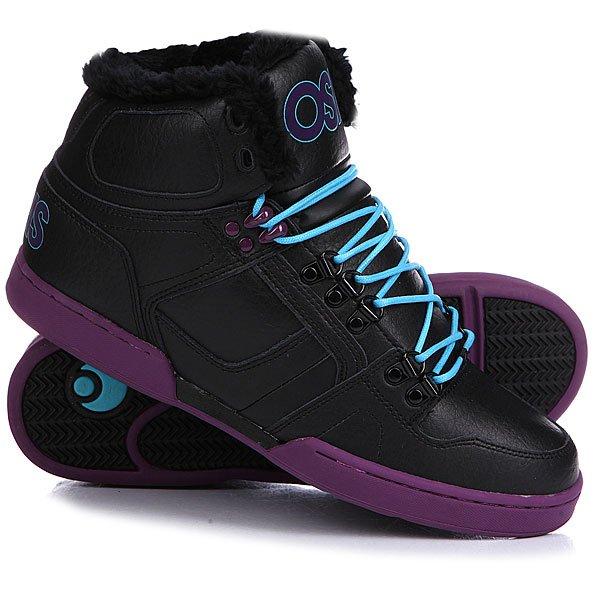 Кеды кроссовки утепленные Osiris Nyc 83 Shr Black/Purple/Teal<br><br>Цвет: черный,фиолетовый<br>Тип: Кеды утепленные<br>Возраст: Взрослый<br>Пол: Мужской
