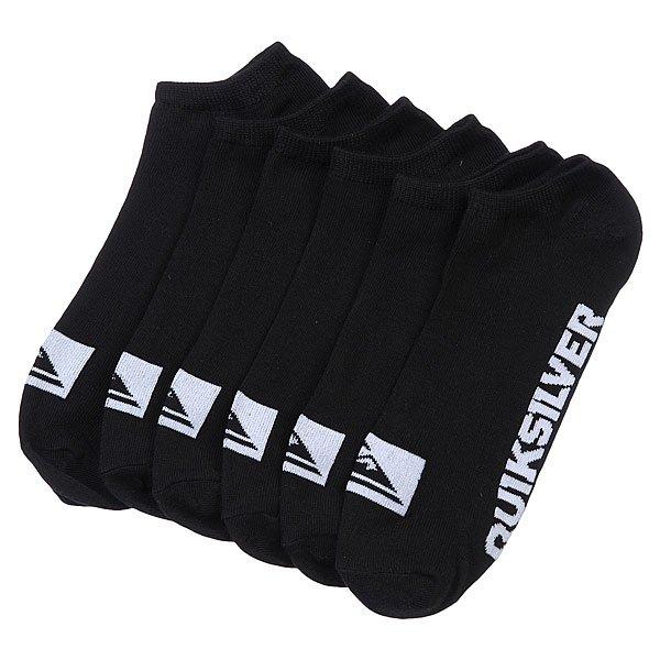 Носки низкие Quiksilver 3pk Bold Logo Black
