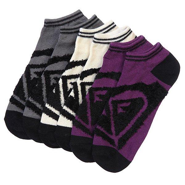 Носки низкие женские Roxy 3pk Junior Insde Spark Logo Ns Multi<br><br>Цвет: бежевый,серый,фиолетовый<br>Тип: Комплект носков<br>Возраст: Взрослый<br>Пол: Женский