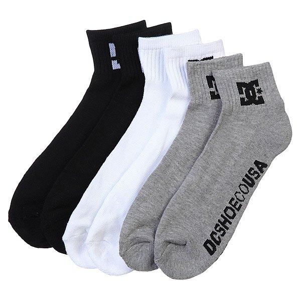 Носки средние DC 3pk Basic Logo Multi<br><br>Цвет: белый,серый,черный<br>Тип: Комплект носков<br>Возраст: Взрослый<br>Пол: Мужской
