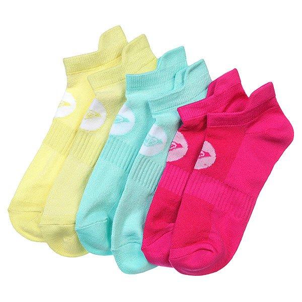 Носки низкие женские Roxy 3pk Marled Sole Lc Multi<br><br>Цвет: розовый,голубой,желтый<br>Тип: Комплект носков<br>Возраст: Взрослый<br>Пол: Женский