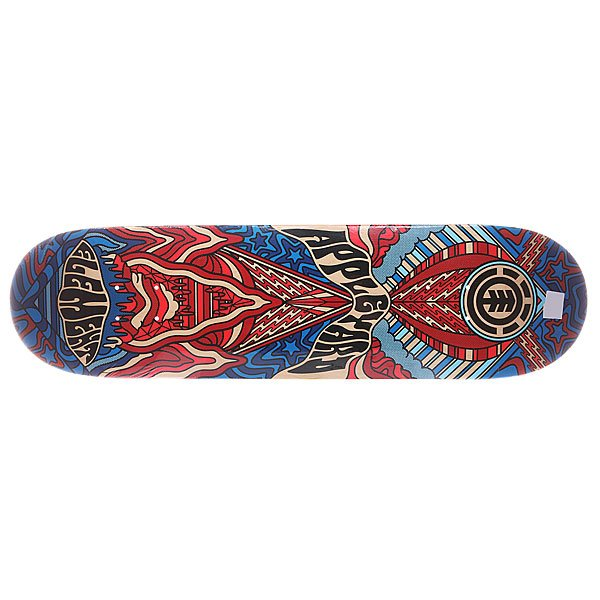 Дека для скейтборда для скейтборда Element S5 Appleyard Mind Melt 32.5 x 8.2 (20.8 см)Ширина деки: 8.2 (20.8 см)    Длина деки: 32.5 (82.6 см)    Количество слоев: 7<br><br>Цвет: синий,голубой,красный<br>Тип: Дека для скейтборда