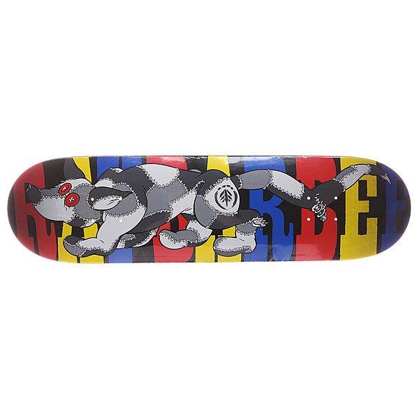 Дека дл скейтборда дл скейтборда Element S5 Barbee Rag Dog 32.5 x 8.2 (20.8 см)Ширина деки: 8.2 (20.8 см)    Длина деки: 32.5 (82.6 см)    Количество слоев: 7<br><br>Цвет: мультиколор<br>Тип: Дека дл скейтборда